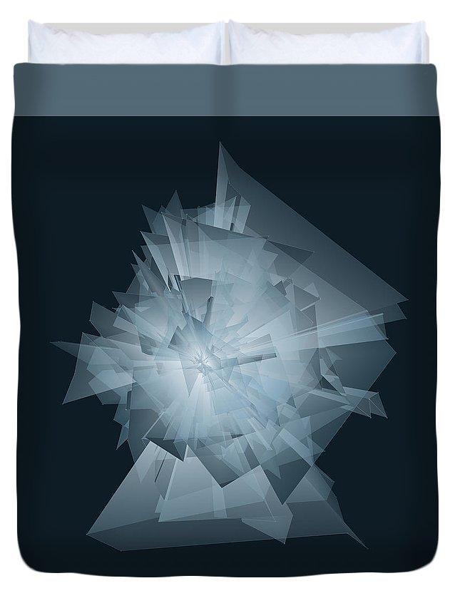 Procedural Duvet Cover featuring the digital art Trvhpg1ckxtmva0abvqkkluakoxfu2ti by Joseph Pollack