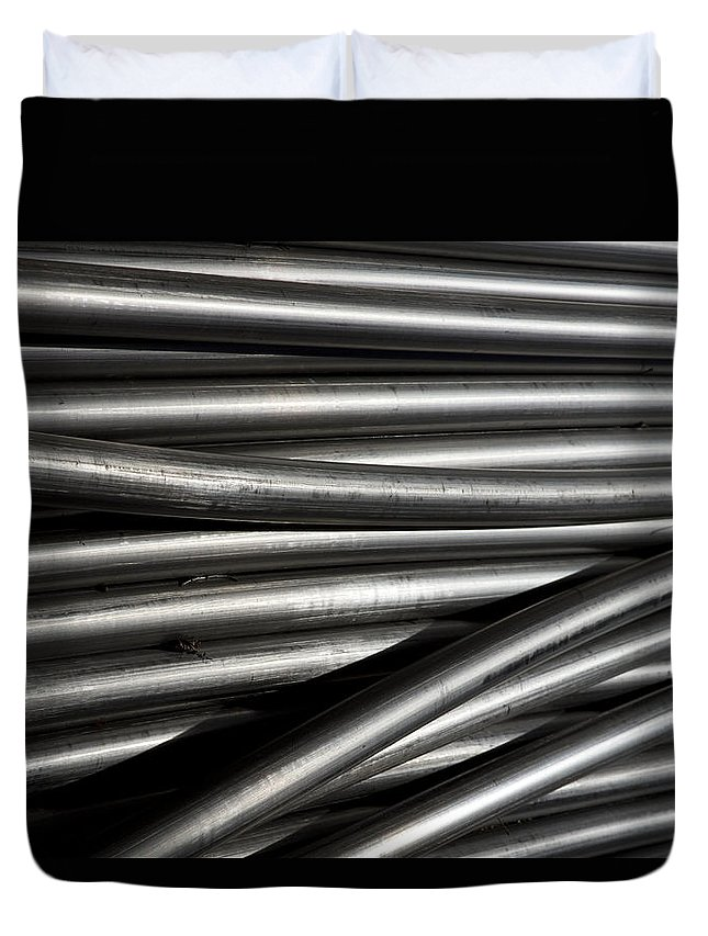 Tubes Duvet Cover featuring the photograph Tubular Abstract Art Number 2 by James BO Insogna
