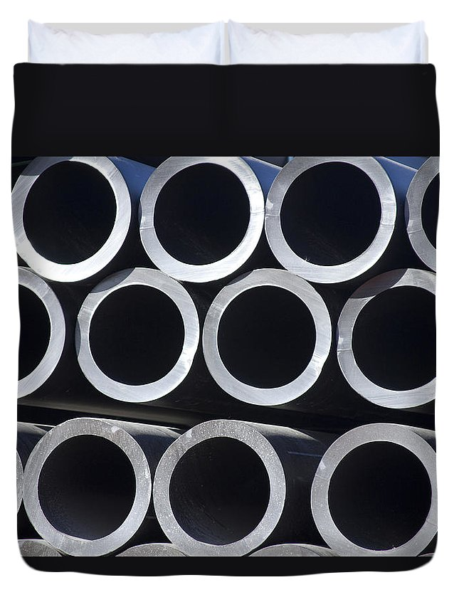 Tubes Duvet Cover featuring the photograph Tubular Abstract Art Number 6 by James BO Insogna