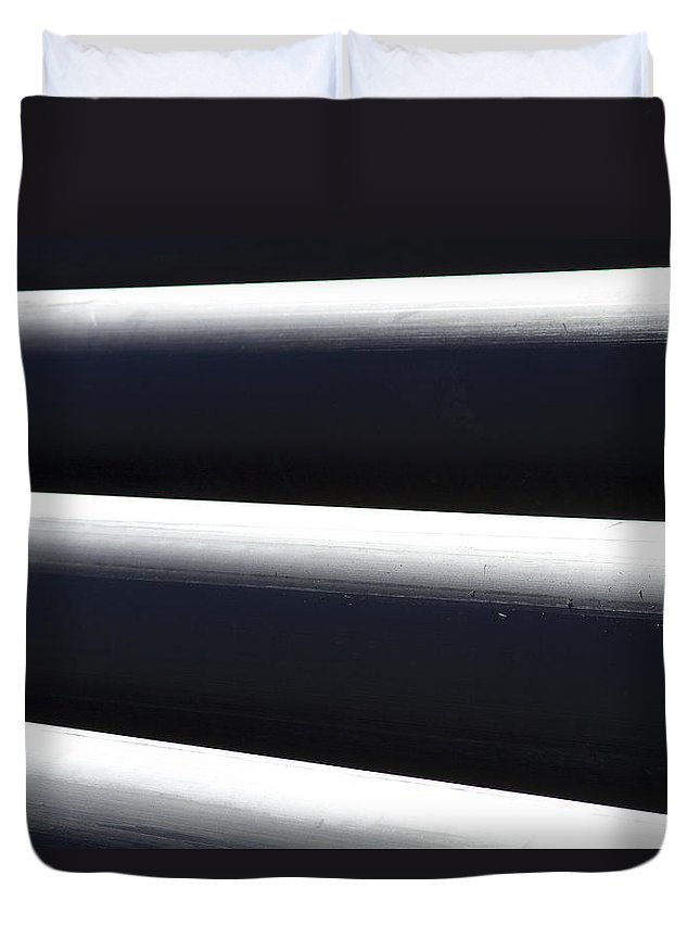 Tubes Duvet Cover featuring the photograph Tubular Shadow And Light Number 2 by James BO Insogna