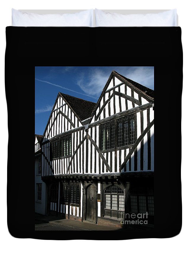 Tudor Duvet Cover featuring the photograph Tudor Timber by Ann Horn