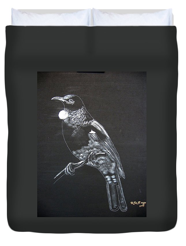 Tui Duvet Cover featuring the painting Tui by Richard Le Page