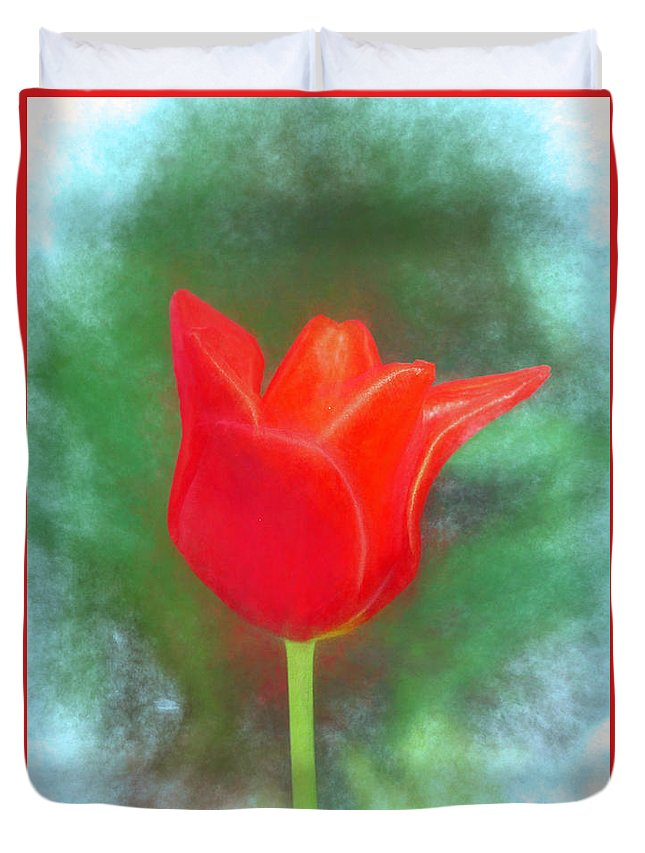 Photograph Duvet Cover featuring the photograph Tulip In Abstract. by William Morris