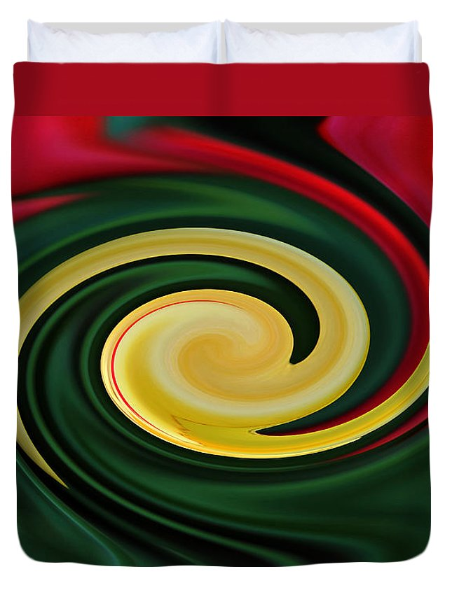 Floral Duvet Cover featuring the photograph Tulip Swirl by Debbie Oppermann