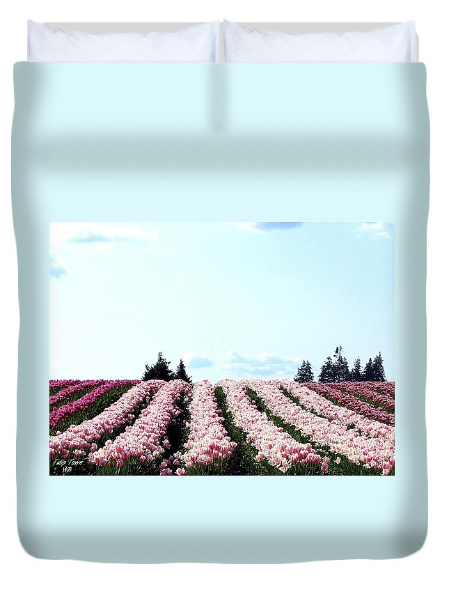 Agriculture Duvet Cover featuring the photograph Tulip Town 10 by Will Borden