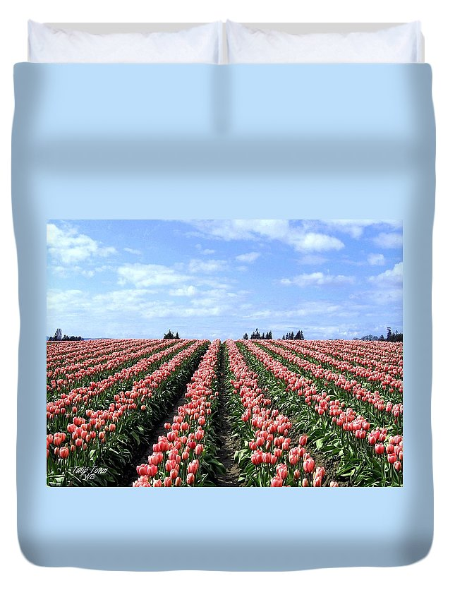 Agriculture Duvet Cover featuring the photograph Tulip Town 12 by Will Borden