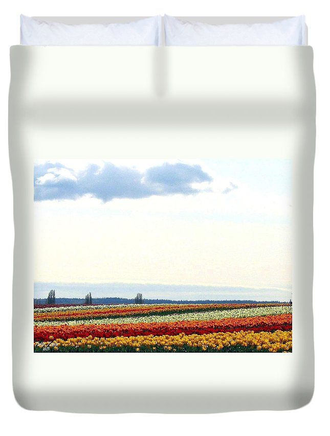 Agriculture Duvet Cover featuring the photograph Tulip Town 13 by Will Borden