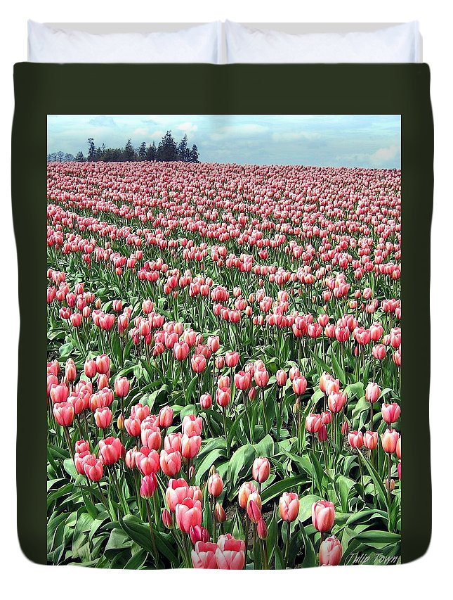 Agriculture Duvet Cover featuring the photograph Tulip Town 14 by Will Borden