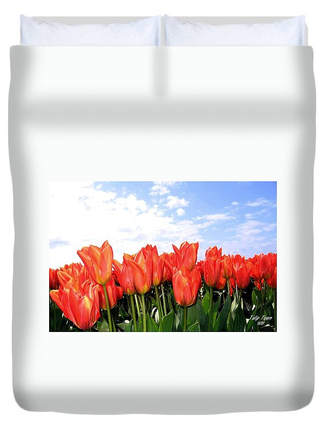 Agriculture Duvet Cover featuring the photograph Tulip Town 17 by Will Borden