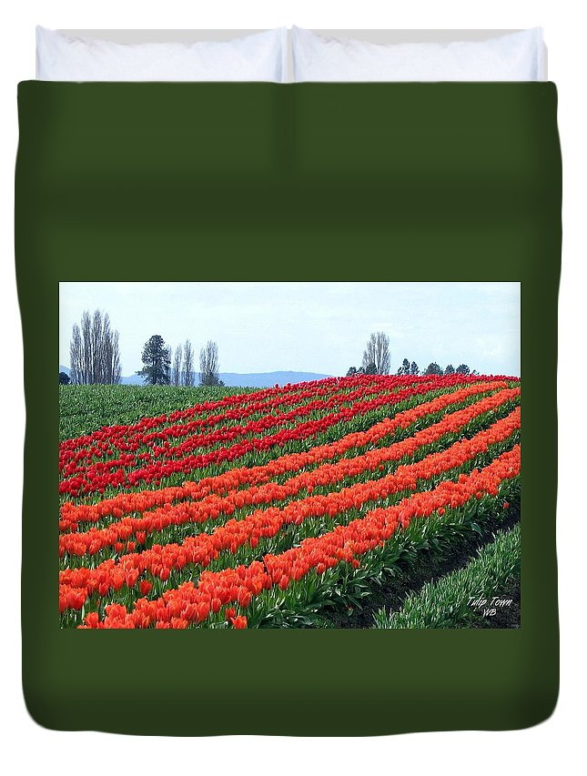 Agriculture Duvet Cover featuring the photograph Tulip Town 18 by Will Borden