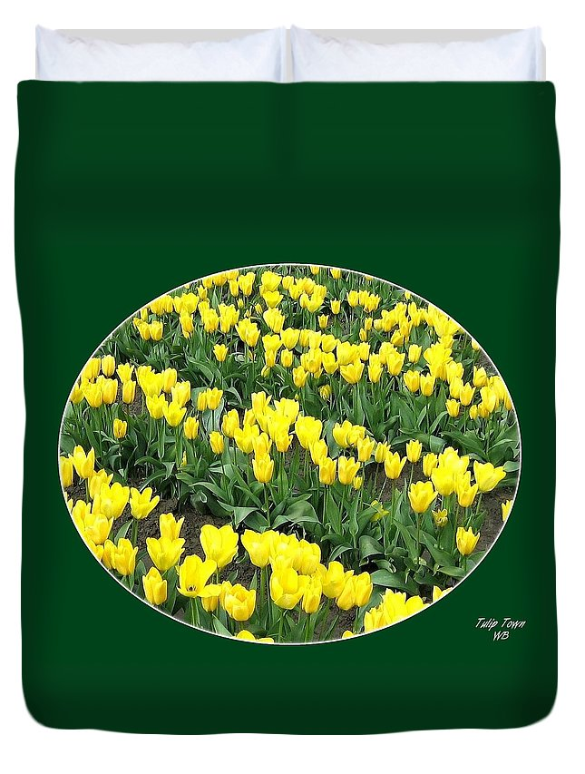 Agriculture Duvet Cover featuring the photograph Tulip Town 2 by Will Borden