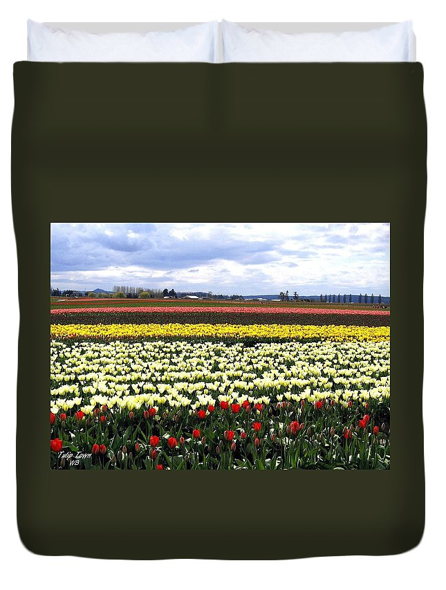 Agriculture Duvet Cover featuring the photograph Tulip Town 4 by Will Borden