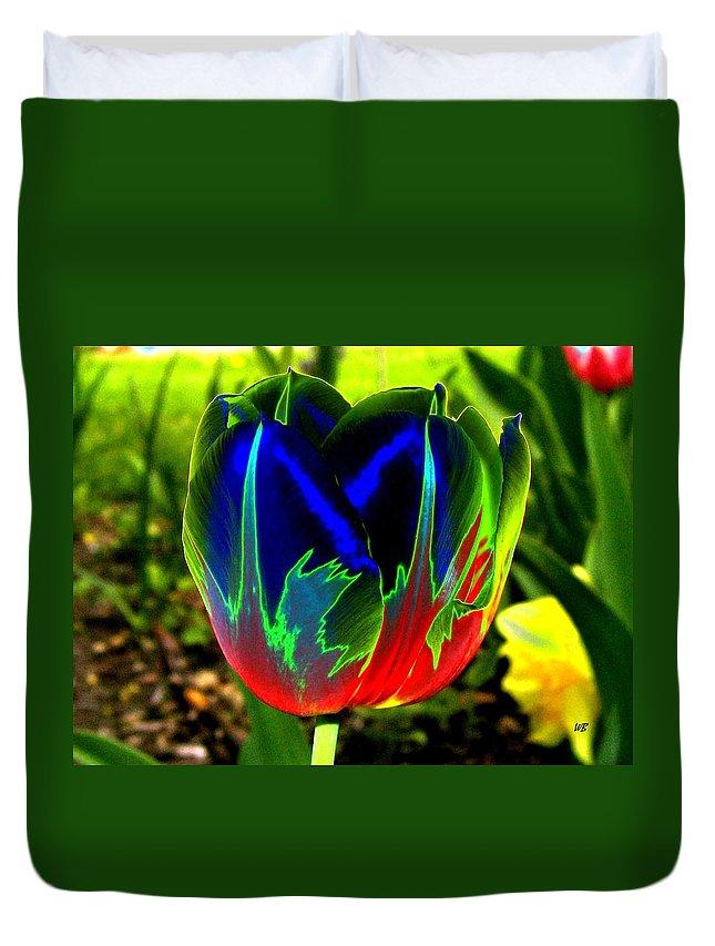 Resplendent Duvet Cover featuring the digital art Tulipshow by Will Borden