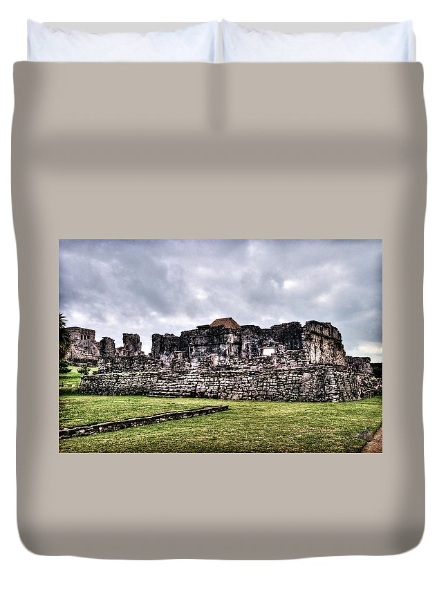 Tulum Duvet Cover featuring the photograph Tulum Ruins by Tammy Wetzel