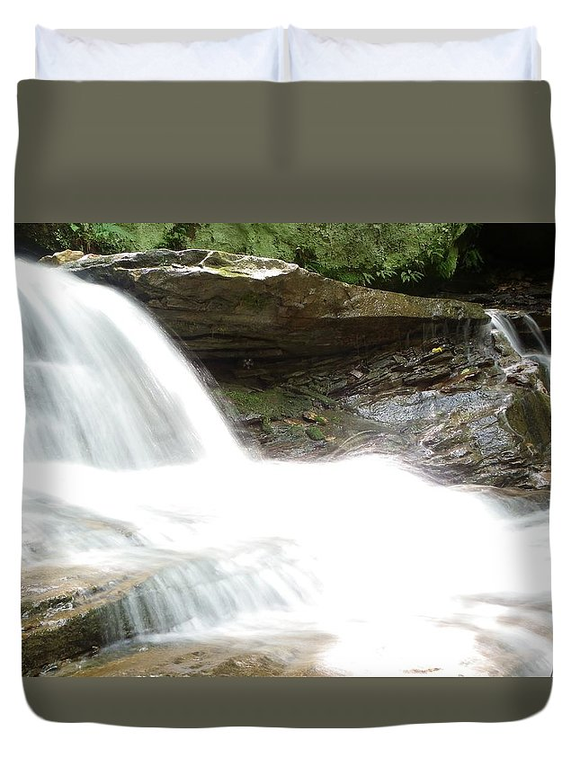Water Duvet Cover featuring the photograph Tumbling H20 by Ethan Lovy