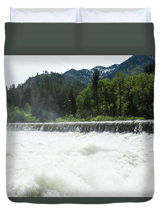 Tumwater Dam Duvet Cover featuring the photograph Tumwater Dam by Tom Cochran