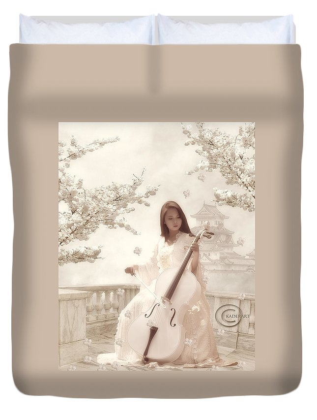 Duvet Cover featuring the digital art Tune From The Middle by Abdelkader Bouazza