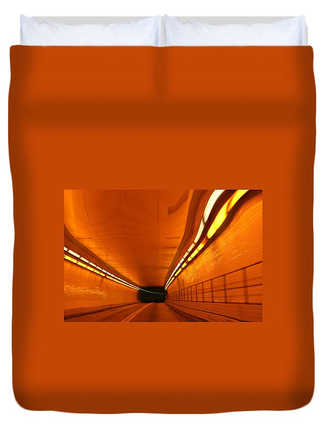 Tunnel Duvet Cover featuring the photograph Tunnel by Linda Sannuti