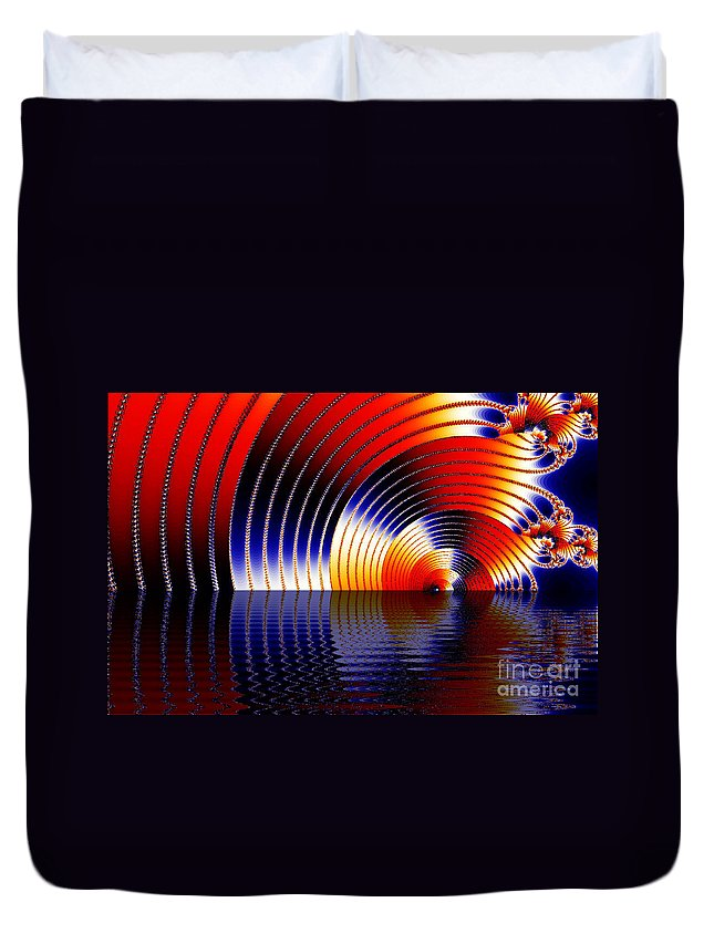 Clay Duvet Cover featuring the digital art Tunnel Of Love by Clayton Bruster