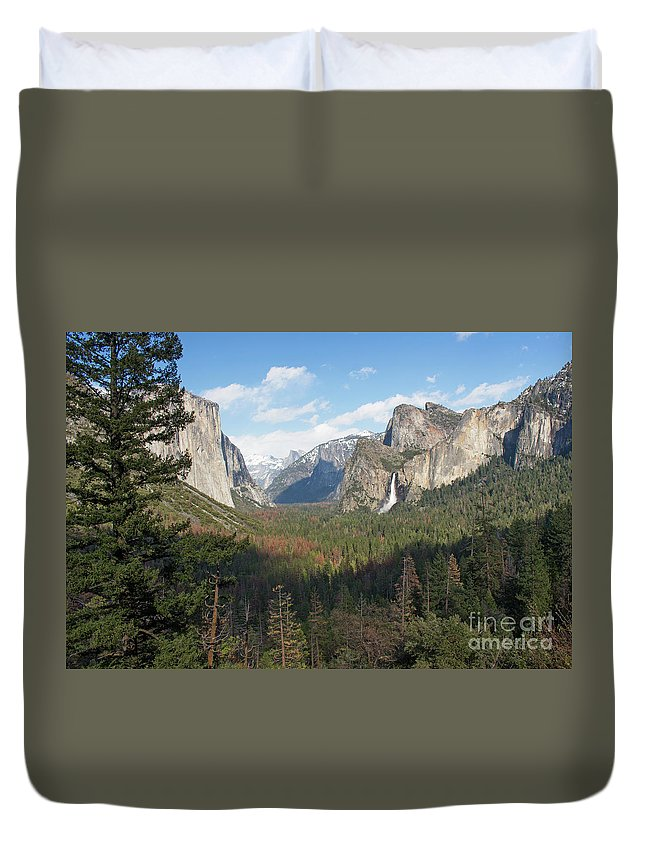 Tunnel View Duvet Cover featuring the photograph Tunnel View Shadow by Cheryl Del Toro