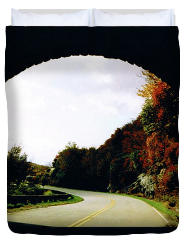 Tunnel Vision Duvet Cover featuring the photograph Tunnel Vision by Seth Weaver