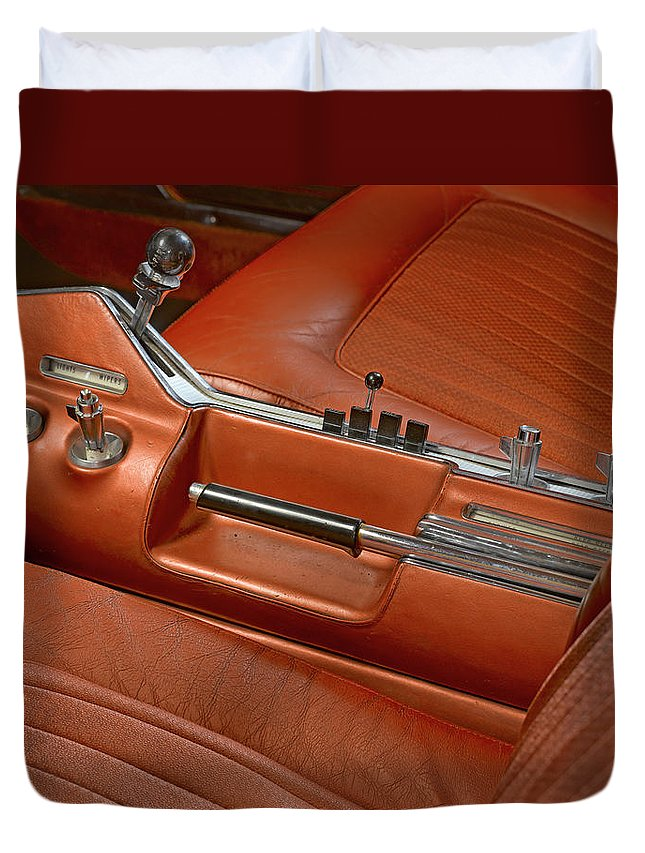 Chrysler Turbine Car Duvet Cover featuring the photograph Turbine Console by Richard Lund