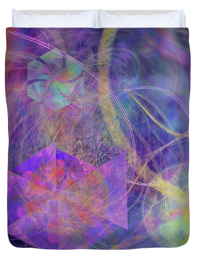Turbo Blue Duvet Cover featuring the digital art Turbo Blue by John Beck
