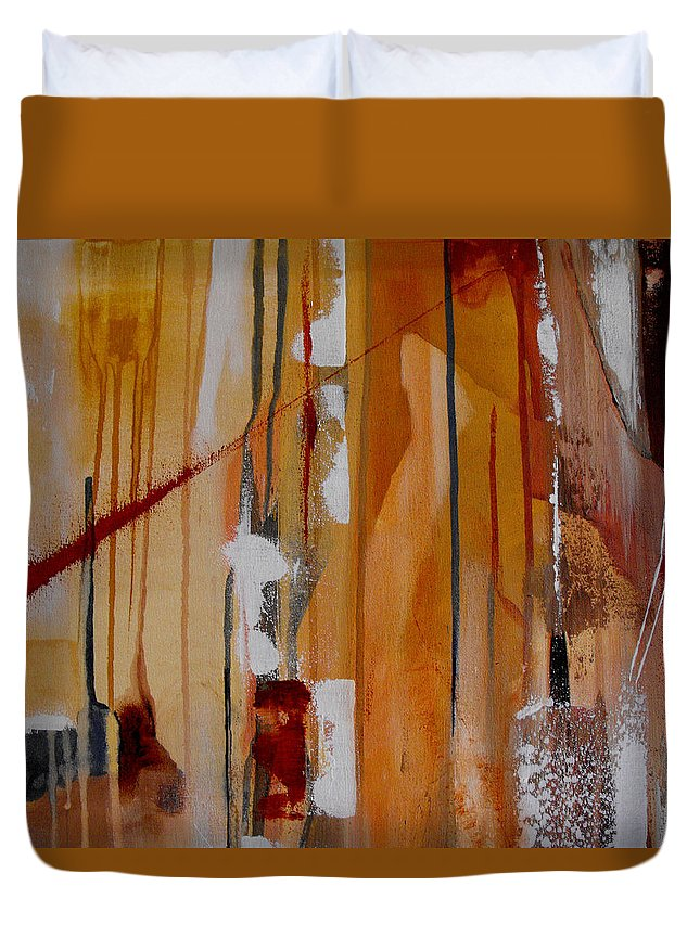 Abstract Duvet Cover featuring the painting Turbulent Times by Ruth Palmer