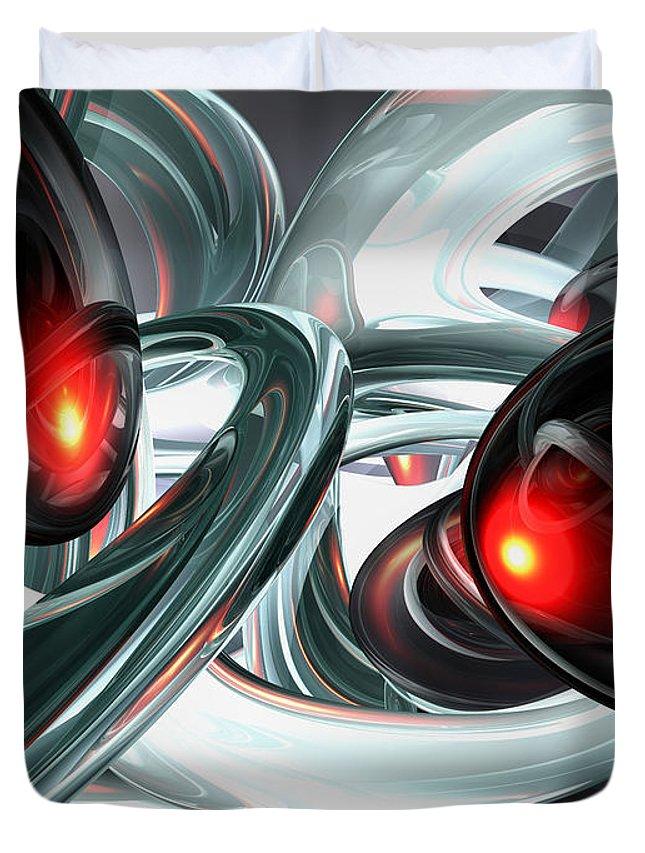3d Duvet Cover featuring the digital art Turmoil Abstract by Alexander Butler