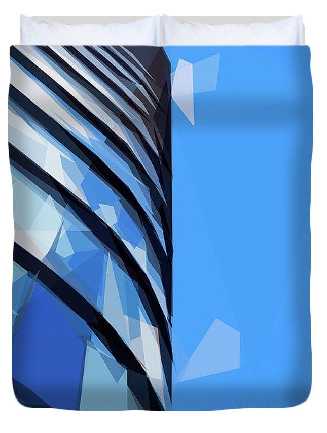 Turning The Corner Duvet Cover featuring the digital art Turning The Corner - The Skywards Series by ISAW Gallery