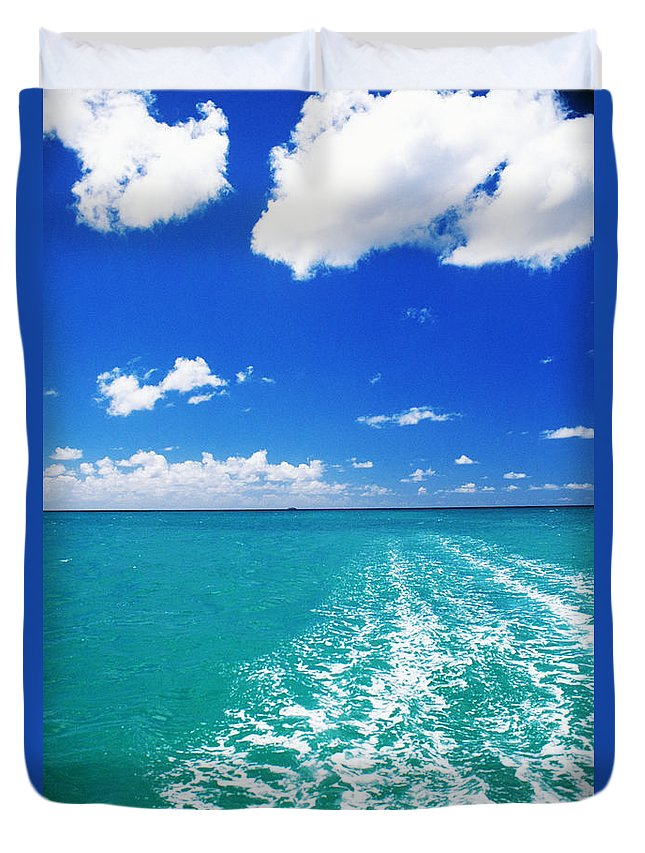 Beautiful Duvet Cover featuring the photograph Turquoise Ocean by Dana Edmunds - Printscapes