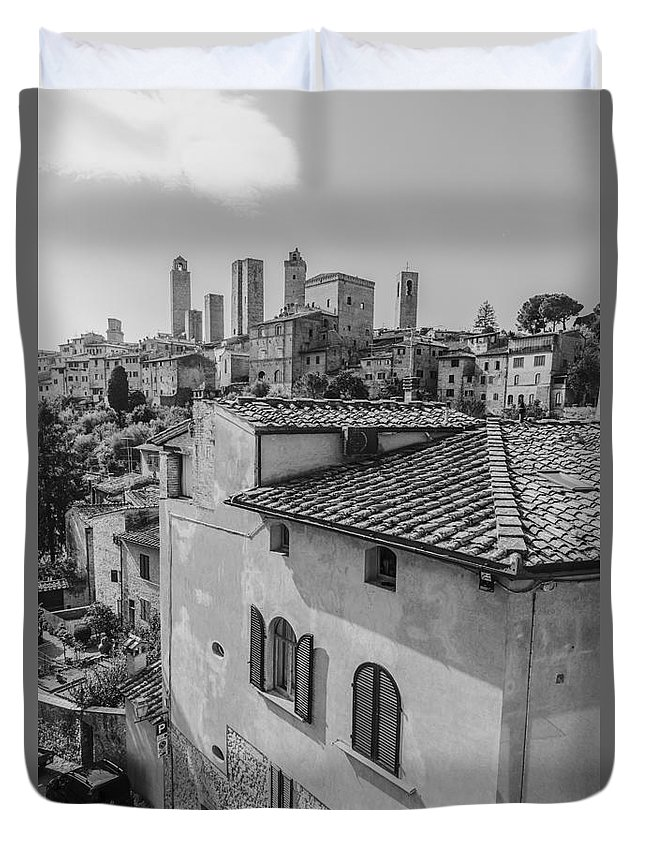 Tuscany Duvet Cover featuring the photograph A Window To Tuscany by Alanna DPhoto