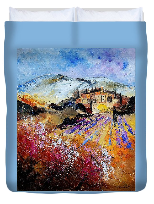Provence Duvet Cover featuring the painting Tuscany 56 by Pol Ledent