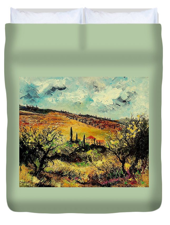 Provence Duvet Cover featuring the painting Tuscany 67 by Pol Ledent