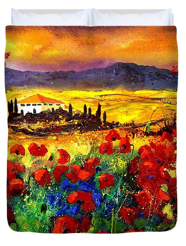 Landscape Duvet Cover featuring the painting Tuscany 68 by Pol Ledent