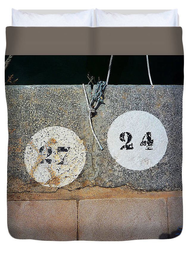 Number Duvet Cover featuring the photograph Twenty Four by Charles Stuart