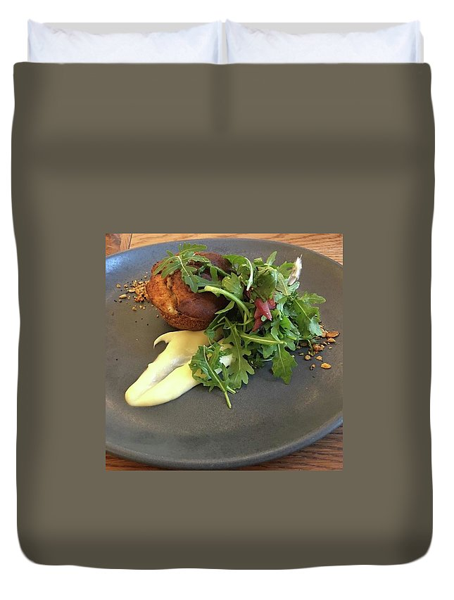 Duvet Cover featuring the photograph Twice Baked Binham Blue Cheese & Walnut by John Edwards