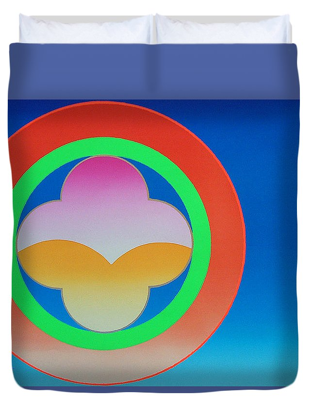 Church Duvet Cover featuring the mixed media Twilight by Charles Stuart
