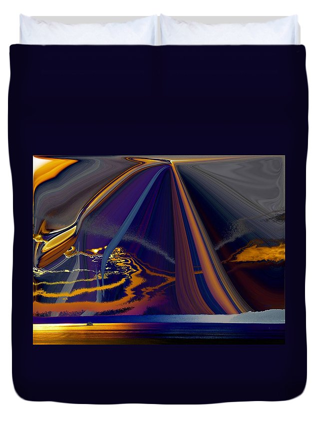 Abstract Duvet Cover featuring the photograph Twilight Journey by Tim Allen