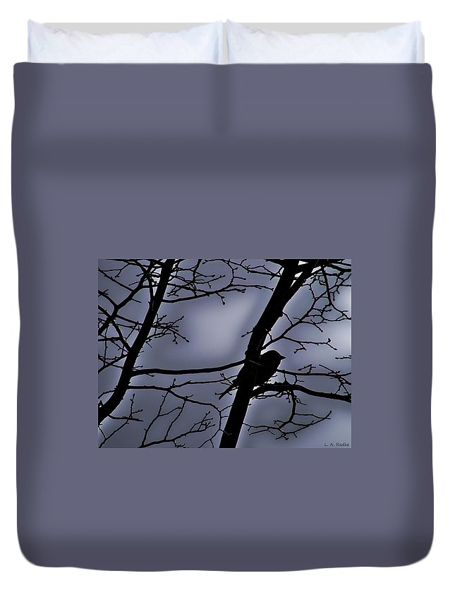 Night Duvet Cover featuring the photograph Twilight by Lauren Radke