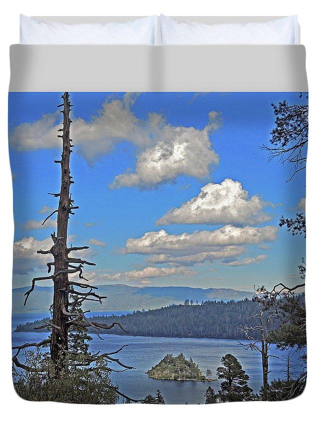 Trees Duvet Cover featuring the photograph Twilight Shadowfall by Lynda Lehmann
