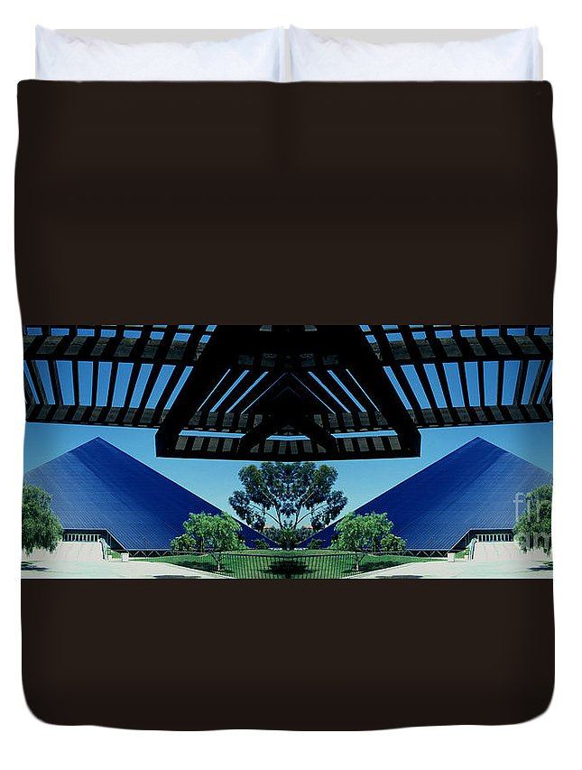 Mirror Effects Duvet Cover featuring the photograph Twin Peaks by Paul W Faust - Impressions of Light