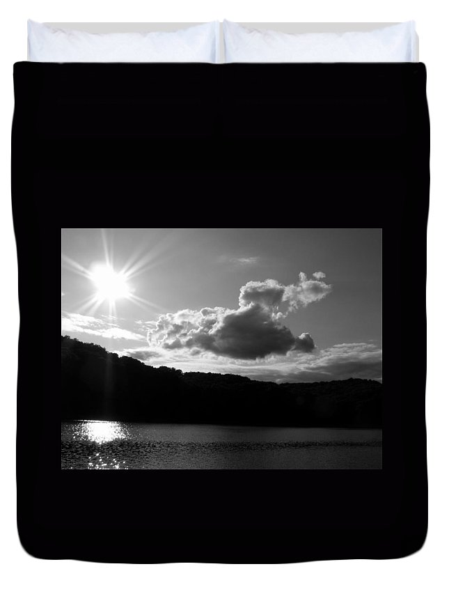 Trees Duvet Cover featuring the photograph Twin Sons by Ed Smith