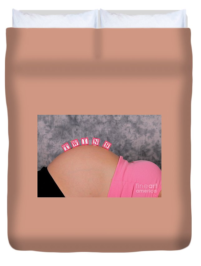 Maternity Duvet Cover featuring the photograph Twins by Rick Monyahan