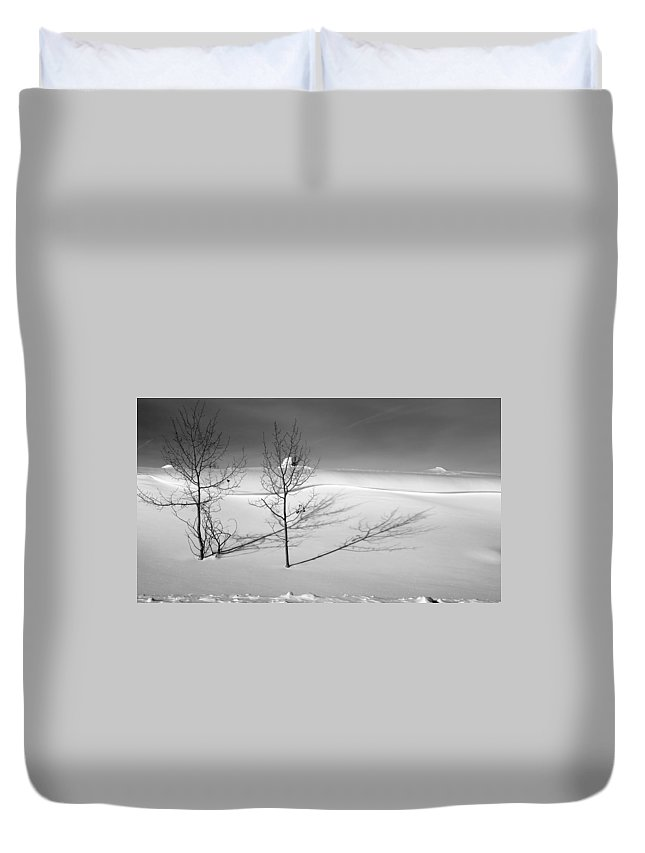 Nature Duvet Cover featuring the photograph Twins by Skip Hunt