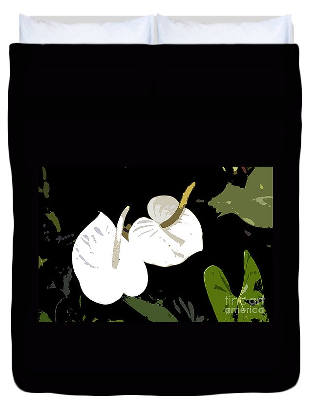 Flowers Duvet Cover featuring the photograph Twins Work Number 10 by David Lee Thompson