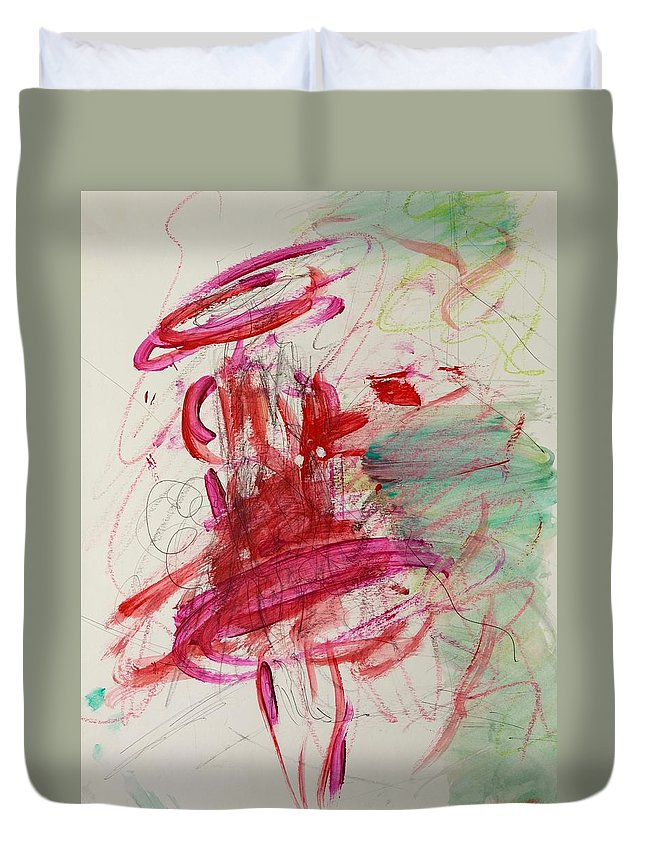 Movement Duvet Cover featuring the painting Twirl by Barbara Rose Brooker