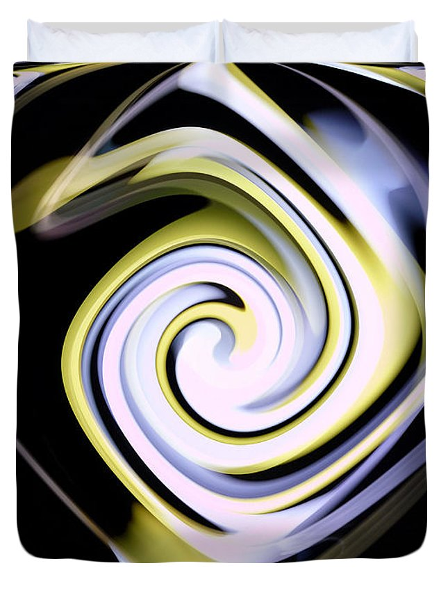 Digital Duvet Cover featuring the photograph Twirl by Thomas MacPherson Jr