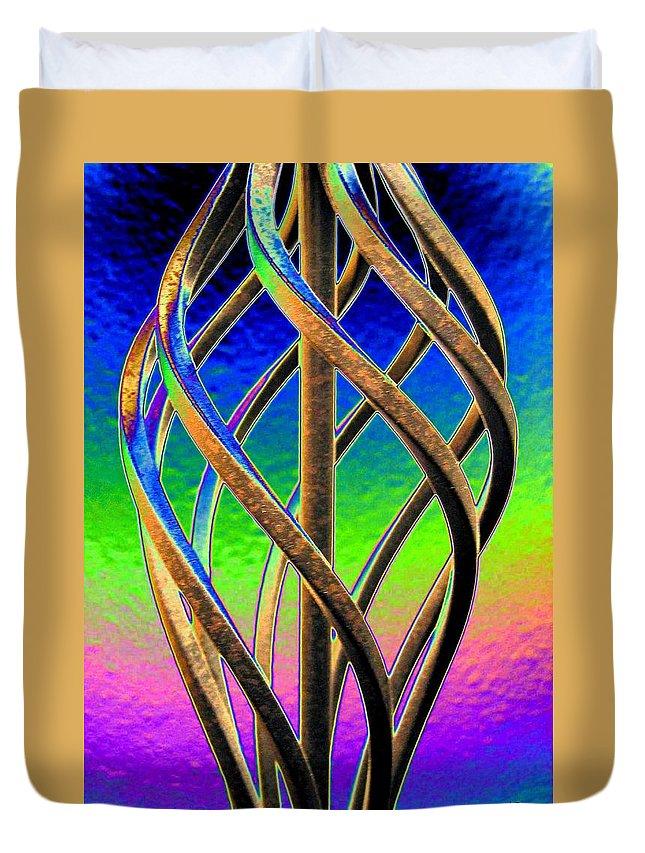 Abstract Duvet Cover featuring the digital art Twist And Shout 2 by Will Borden