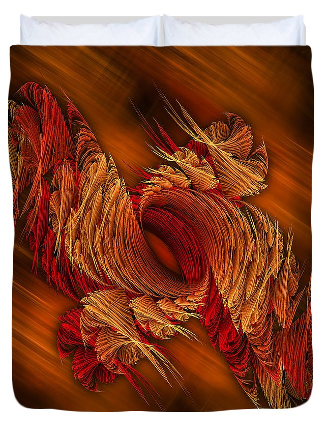 Artwork Duvet Cover featuring the digital art Twisted by Fabian G